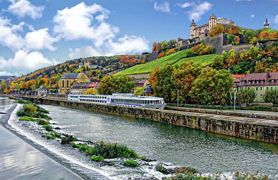 Main River Panorama Art Print
