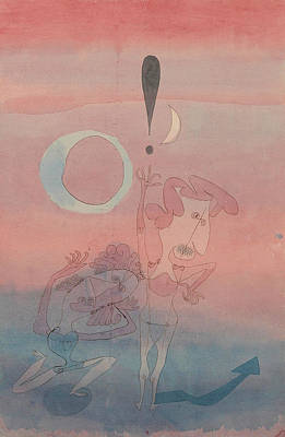 Main Scene From The Ballet The False Oath Art Print by Paul Klee