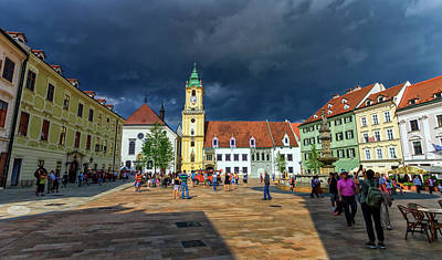 Main Square In The Old Town Of Bratislava, Slovakia Art Print