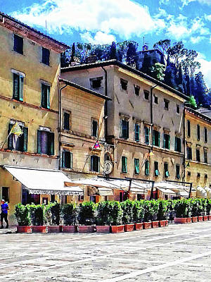 Photograph - Main Square View Cetona Tuscany by Dorothy Berry-Lound