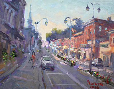 Downtown Wall Art - Painting - Main St Georgetown Downtown  by Ylli Haruni