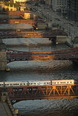 Main Stem Chicago River Print by Steve Gadomski