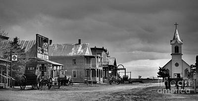 Photograph - Main Street 1880 by Nadalyn Larsen