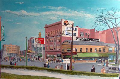 Main Street 1944 Original by John Fitzsimmons