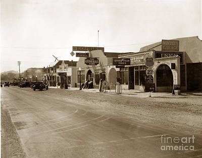 Photograph - Main Street Atascadero California Circa 1925 by California Views Mr Pat Hathaway Archives