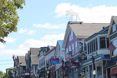 Photograph - Main Street Bar Harbor Maine by Living Color Photography Lorraine Lynch