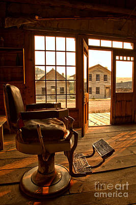 Photograph - Main Street Barber Chair by Adam Jewell