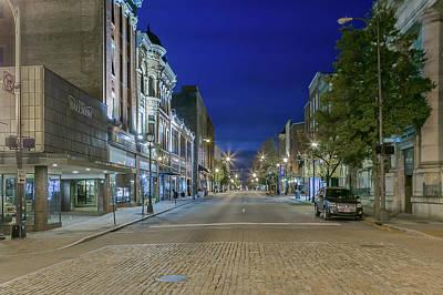Photograph - Main Street Blue Hour In Lynchburg by Tim Wilson