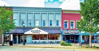 Photograph - Main Street Cedar Falls-sketch by Ericamaxine Price