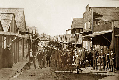 Photograph - Main Street Chinaton Pacific Grove Looking Northwest Circa 1904 by California Views Mr Pat Hathaway Archives