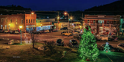 Photograph - Main Street Christmas by Bluemoonistic Images