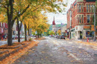 Photograph - Main Street Downtown Winona Minn Painting Style Version 2 by Kari Yearous