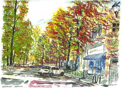 Main Street Greenville Fall Art Print