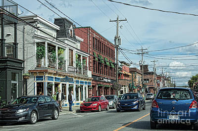 Photograph - Main Street In Magog Quebec by Tatiana Travelways