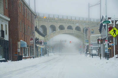 Phillies Digital Art - Main Street In Manayunk On A Snow Day by Bill Cannon