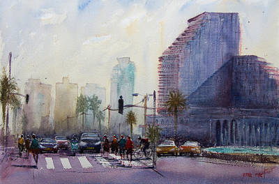 Painting - Main Street In Tel Aviv by Lior Ohayon