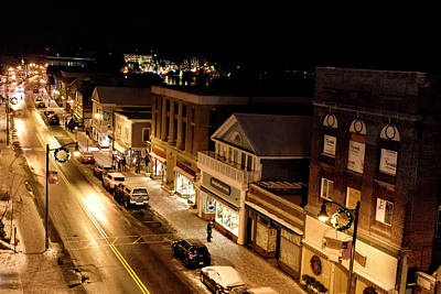 Photograph - Main Street - Lake Placid New York by Brendan Reals