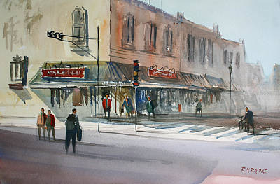 Main Street Marketplace - Waupaca Art Print