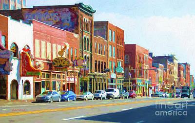 Main Street Nashville, Tennessee Art Print