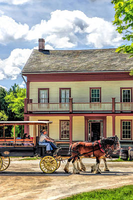 Small Town Painting - Main Street Of A Bygone Era At Old World Wisconsin by Christopher Arndt