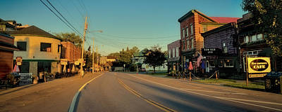 The Main Photograph - Main Street - Old Forge New York by David Patterson