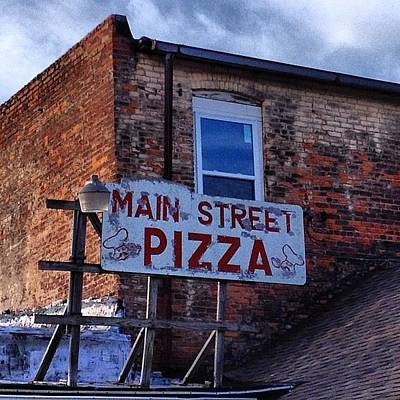 Photograph - Main Street Pizza Back Entrance by Chris Brown