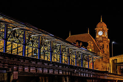 Wall Art - Photograph - Main Street Station And Glass Shed by Cliff Middlebrook