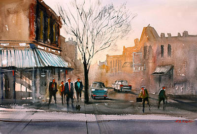 Street Car Painting - Main Street - Steven's Point by Ryan Radke