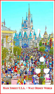 Victorian Era Digital Art - Main Street Usa Walt Disney World by A Gurmankin