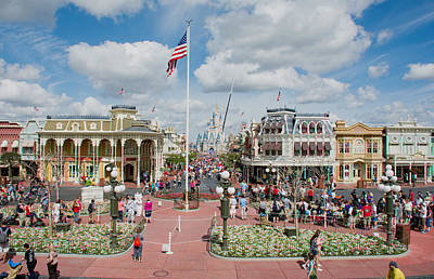 Photograph - Main Street Walt Disney World by John Black