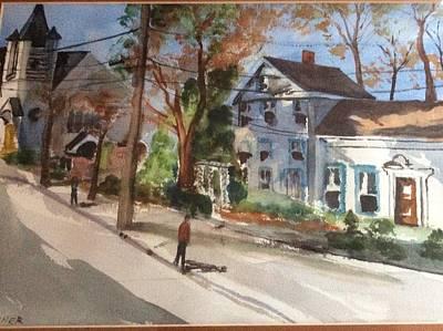 Painting - Main Street Wellfleet Ma by Tom Steiner