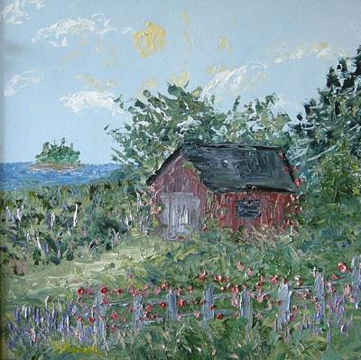 Maine Barns Painting - Maine Barn by Sharon Fernandes