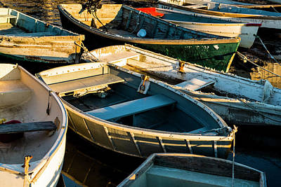 Art Print featuring the photograph Maine Boats At Sunset by Ranjay Mitra
