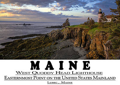 Photograph - Maine Bold Coast Sentinal by Marty Saccone