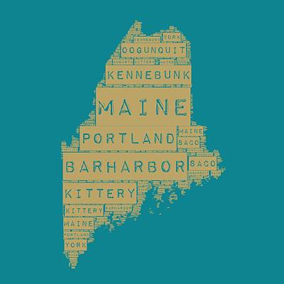 Maine Art Print by Brandi Fitzgerald