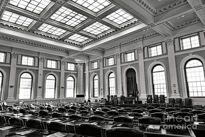 Maine Capitol House Of Representatives Chamber Art Print by Olivier Le Queinec