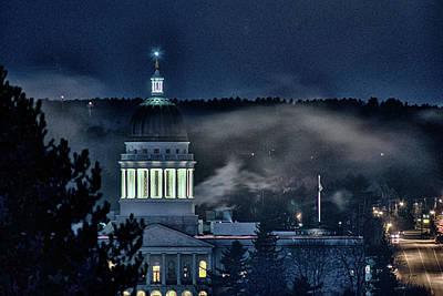 Digital Art - Maine Capitol by Patrick Groleau