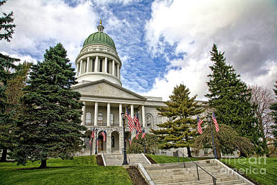 Photograph - Maine Capitol by Scott Kemper