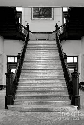 Maine Capitol West Wing Staircase Art Print by Olivier Le Queinec