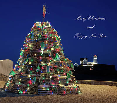 Photograph - Maine Christmas Card by Richard Bean