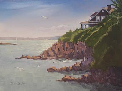 Painting - Maine Coast Abode by Bill Tomsa