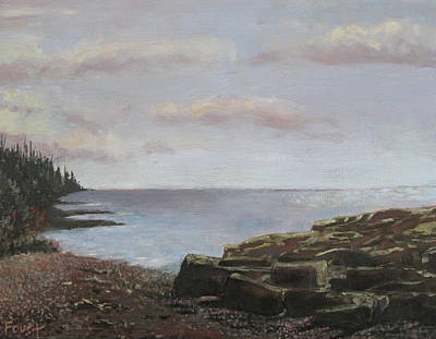 Painting - Maine Coast At Evening by Gene Foust