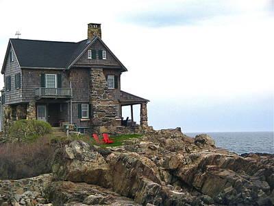 Photograph - Maine Coast House by Denise Mazzocco