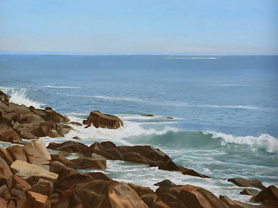 Maine Painting - Maine Coast by Linda Tenukas