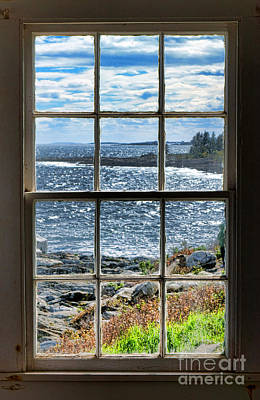 Rocky Maine Coast Photograph - Maine Coast Picture Frame by Olivier Le Queinec