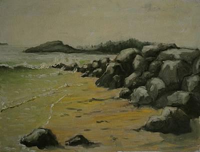 Maine Coast Usa Art Print by Chris  Riley