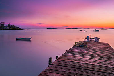 Art Print featuring the photograph Maine Cooks Corner Lobster Shack At Sunset by Ranjay Mitra