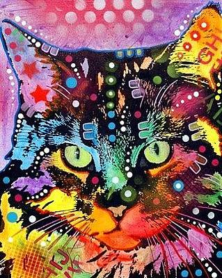 Maine Mixed Media - Maine Coon Cat by Dean Russo