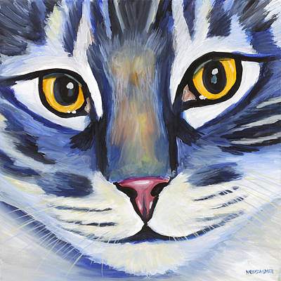 Maine Coon Art Print by Melissa Smith