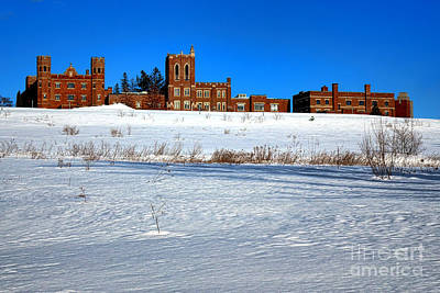 Maine Criminal Justice Academy In Winter Print by Olivier Le Queinec